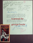 J ARTHUR RANK LETTER SIGNED 1948 HAMLET THE RED SHOES