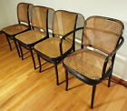 4 Vintage FMG Mid Century Thonet Stendig Bentwood Caned Dining Chairs Poland