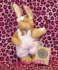 BOYD PLUSH BROWN HARE RABBIT BUNNY~Hailey #1364~PASTEL PINK ROMPER JUMPER~NWT