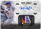 2016 Topps Tier One David Wright Relic GU 4 Color Logo Patch Auto # 99