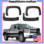 07-13 Chevy Silverado 1500 2500 3500HD Black Rivet Fender Flares Pocket Style