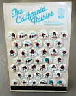 1987 CALIFORNIA RAISINS Button Store Display Complete 39 Buttons NEVER DISPLAYED