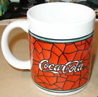 1996 COCA COLA COKE COFFEE CUP MUG STAINED GLASS BY GIBSON