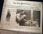 MUHAMMAD ALI Cassius Clay Heavyweight BOXING Title Fight GERMANY 1966 Newspaper