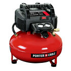 Porter Cable 08 HP 6 Gallon Oil Free Pancake Air Compressor C2002 New