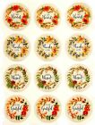 FALL HARVEST FLORAL WREATH SAYINGS STICKERS USA MADE 37B FAST SHIPPING