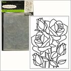 Mosaic Rose embossing folder Darice embossing folders 30008386 flowersleaves