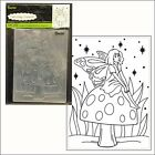 Fairy Mushroom embossing folder Darice embossing folders 30008397 All Occasion