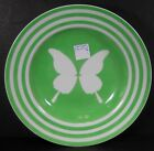 FITZ & FLOYD china PAPILLION GREEN pattern Soup or Salad Bowl - 9-1/4