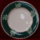 FITZ & FLOYD china YULETIDE HOLIDAY Green pattern Dinner Plate @ 10 3/4
