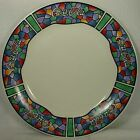 GIBSON DESIGNS china COCA COLA Stained Glass DINNER PLATE 10-5/8