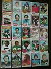 1976 TOPPS FOOTBALL LOT OF 167 DIFFERENT CARDS.