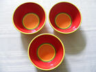 (3) DANSK brightly colored CARIBE ARUBA soup / cereal - deep bowls