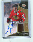 2015-16 UD Ultimate Collection Jersey Auto #27 JONATHAN TOEWS 08 25 Black Hawks