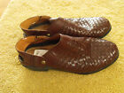 ARIAT Brown Woven Leather Slingback Western Clog Mules Shoes Us Wm Sz 6 EUR 36
