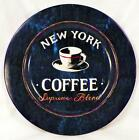 Sakura Coffee Break Dessert Pie Plate New York Supreme Blend Blue Stoneware