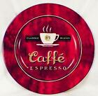 Sakura Coffee Break Dessert Pie Plate Caffe Espresso Burgundy Stoneware
