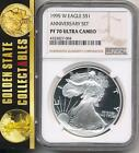 1995 W 1 Proof Silver Eagle NGC PF70 Ultra Cameo  king of the silver eagles
