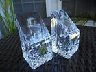 WATERFORD CRYSTAL SET OF 2 LISMORE ESSENCE 4 INCH CANDLESTICKS