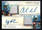 ANDREW LUCK COBY FLEENER 2012 TOPPS PLATINUM RC DUAL AUTO PATCH SP #17 25 $250