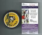 RON FRANCIS SIGNED PITTSBURGH PENGUINS 1992 STANLEY CUP PUCK JSA AUTHENTICATED