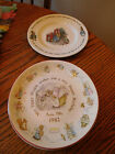 5 Beatrix Potter Peter Rabbit Plates 1982 & 83,84,85 Wedgwood 8