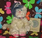 FRIENDS~Claudine #1364~CREAM CAT KITTY~BLUE HAT W/FEATHER~NWT