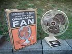EXCELLENT MINT LAKEWOOD 1200 A 3 SPEED OSCILLATING TABLE TOP FAN in BOX
