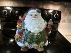 FITZ & FLOYD JOLLY OLE ST NICK LARGE SANTA COOKIE JAR EUC