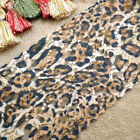 15 Yards Embroidered Leopard Print Floral Stretch Lace 5 1/2