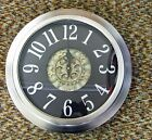18 METAL CONTEMPORARY WALL CLOCK WITH MOVING GEARS IN THE CENTER 66988
