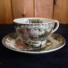 THE FRIENDLY VILLAGE BY JOHNSON BROTHERS THE WELL OVER-SIZED TEA CUP AND SAUCER