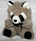 America Wego Plush Gray Raccoon w/ original ribbon 8