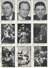 THE THREE 3 STOOGES 1989 FTCC COMPLETE BASE CARD SET OF 60 BLUE PUZZLE BACK TV