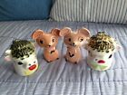 Vintage HOLT HOWARD Moo Cow  Merry Mice Salt and Pepper Shakers
