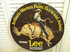 Vintage Lee Jeans Sign Riders Original Western Wear Cowboy Bull Riding