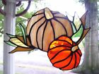 Stained Glass Pumpkin Suncatcher Real Glass