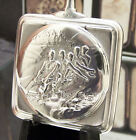 MUSEUM ANTIQUE C1908 OMEGA BOBSLEIGH SOLID SILVER SQUARE POCKET WATCH RARE HAND