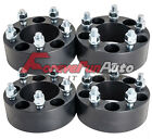 4PC 20 5x45 Black Wheel Spacers Adapters 1 2x20 Studs for Ford Sport Lincoln