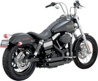 Vance And Hines Black Shortshots Staggered Exhaust 12 17 Harley Dyna FXDB FXDC