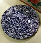 10.75 inch round platter Churchill blue Calico floral chintz England