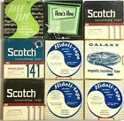 VINTAGE LOT OF 9 REEL TO REEL BLANK AND RECORDED TAPES ~ 4 TRACK TAPE  7 1/2 IPS