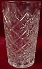 HAZEL ATLAS crystal DIAMOND with THUMBPRINT clear ICED TEA TUMBLER 12 oz.