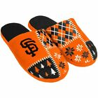 Official MLB San Francisco Giants 2016 Patches Ugly Winter Sweater Slippers
