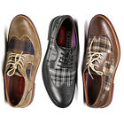 Metrocharm Mens Plaid Lace Up Wing Tip Classic Oxford Fashion Dress Shoes