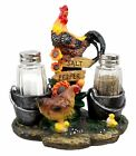 FARM FLAVOR ROOSTER CHICKEN CHICK SALT PEPPER SHAKERS HOLDER FIGURINE STATUE