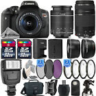 Canon EOS Rebel T6i 750D 242 MP DSLR Camera + 18 55mm STM LENS + 75 300 III