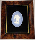 Vintage Wedgwood- Blue Jasperware Plaque (Framed) with Cherub Cameo- Beautiful!