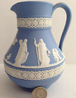 Vintage Wedgwood- LARGE Blue Jasperware Etruscan Jug- Excellent Condition!
