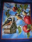 CHICKADEE BIRD FLOWER JAMES MEGER PILLOW PANEL BLOCK SQUAR QUILT CHEATER FABRIC